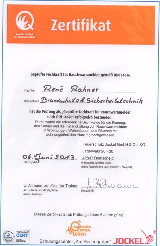 Ausgezeichnet Brandschutz Zertifikat Vorlage Zeitgenössisch ...